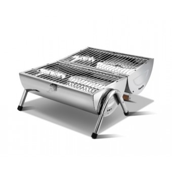 Grillz Foldable Portable BBQ Grill & Smoker - Camping Cooking Appliances