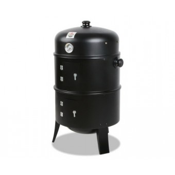 Grillz 3-in-1 Black Charcoal BBQ Smoker - Camping BBQs