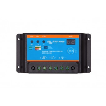 Victron BlueSolar PWM-Light Charge Controller 12/24V-5A - Off Grid Solar Charge Controllers