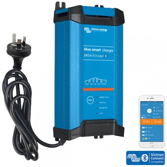 Victron Blue IP22 Smart Charger 24/16, 3 Outputs - 24V Off Grid Battery Chargers