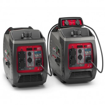 2 x Briggs & Stratton 2400w Inverter Generators with Parallel Kit (Combined 3300 Watts) - Caravan Rv Camping - Best Seller