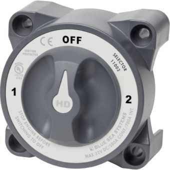 Blue Sea HD-Series Selector 3 Position Battery Switch with AFD - Root Catalog