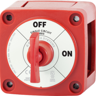 Blue Sea m-Series Red Mini On-Off Battery Switch with Key - Marine Battery Accessories