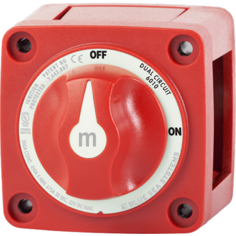 Blue Sea m-Series Red Mini Off-On Battery Switch with Knob - Battery Switches