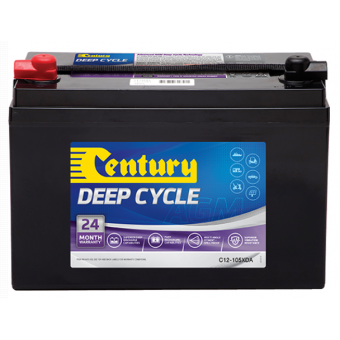 Century 12V 105Ah AGM Deep Cycle Battery - Root Catalog