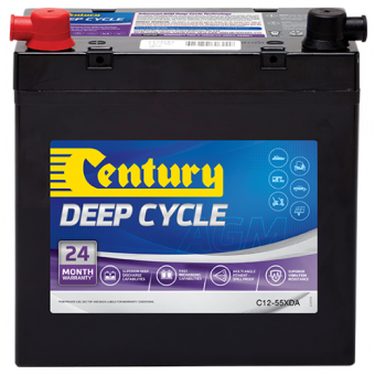 Century 12V 55Ah AGM Deep Cycle Battery - Root Catalog
