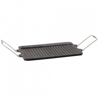 Charmate 3 Burner Cast Iron Reversible BBQ Plate - Camping Cooking Appliances