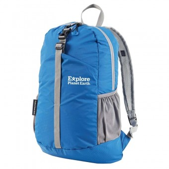 Explore Planet Earth Comet 18 Litre Blue Packable Backpack - Camping Accessories