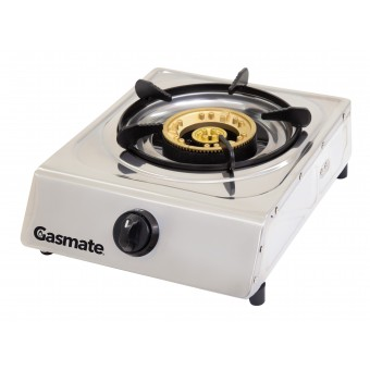Gasmate Single Burner Stainless Steel Wok Style Cooker - Camping Cooking Appliances