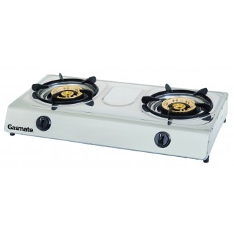 Gasmate Twin Burner Stainless Steel Wok Style Cooker - Camping Cooking Appliances