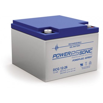 Power-Sonic 12V 26Ah Gel Deep Cycle Battery - Gel Deep Cycle Batteries