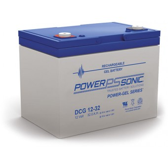 Power-Sonic 12V 32Ah Gel Deep Cycle Battery - Gel Deep Cycle Batteries