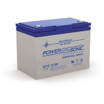 Power-Sonic 12V 50Ah Gel Deep Cycle Battery - Gel Deep Cycle Batteries