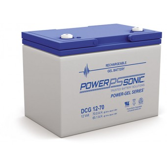 Power-Sonic 12V 70Ah Gel Deep Cycle Battery - Gel Deep Cycle Batteries