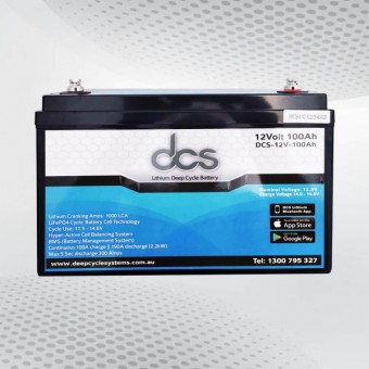 DCS 12V 100Ah Lithium Battery - Batteries & Power Systems