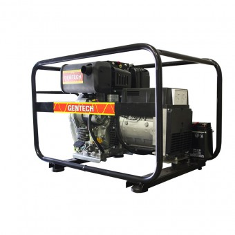 Gentech 3 Phase 6.8kVA Diesel Generator with Elec Start, Yanmar Engine - 3 Phase Diesel Generators
