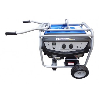 Yamaha 6000w Petrol AVR Generator with Wheel and Handle Kit - Generators & Power