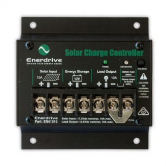 Enerdrive 10A Solar Controller with Load Disconnect - Solar Charge Controllers