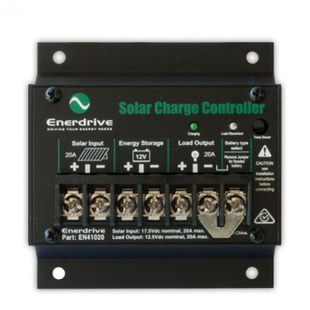 Enerdrive 20A Solar Controller with Load Disconnect - Battery Monitors