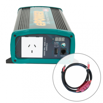 Enerdrive ePOWER 1000W Pure Sine Wave Inverter with DC Cable Pack - 12V Off Grid Inverters