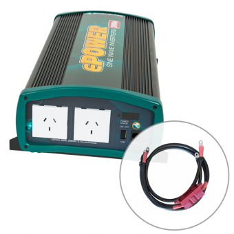 Enerdrive ePOWER 2000W Pure Sine Wave Inverter with DC Cable Pack - Caravan & RV