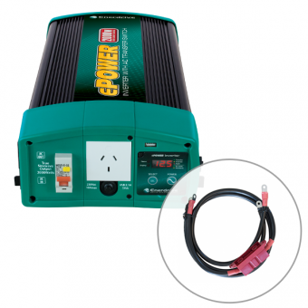 Enerdrive ePOWER 2000W 24V Pure Sine Wave Inverter and RCD & AC Transfer Switch with DC Cable Pack - 24V Off Grid Inverters