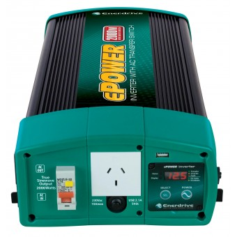 Enerdrive ePOWER 2000W 24V Pure Sine Wave Inverter with RCD & AC Transfer Switch - 24V Off Grid Inverters