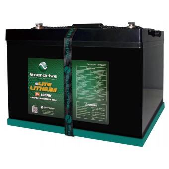 Enerdrive eLITE 12V 100Ah Lithium Battery - Batteries & Power Systems