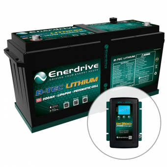 Enerdrive ePOWER B-TEC 200Ah Lithium 40A DC2DC Battery Pack - Caravan Power & Electrical SALE