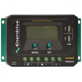 Enerdrive ePOWER PWM 30A Solar Charge Controller - Camping Solar Panels & Accessories