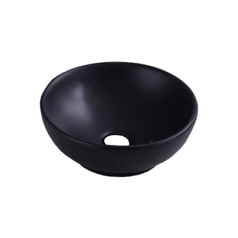 NCE 320mm Black Ceramic Round Basin - Caravan Shower & Bathroom