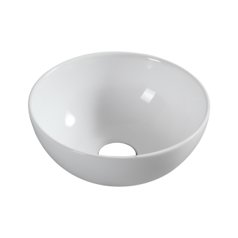 NCE 320mm White Ceramic Round Basin - Caravan Shower & Bathroom