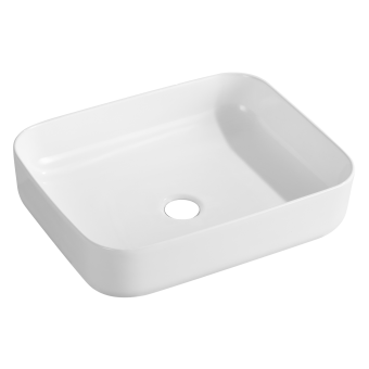 NCE 500mm White Exterior Ceramic Rectangle Basin - Caravan Shower & Bathroom