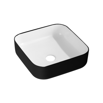 NCE 385mm Black Exterior Ceramic Rectangle Basin - Caravan Shower & Bathroom