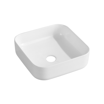 NCE 385mm White Exterior Ceramic Rectangle Basin - Caravan Shower & Bathroom