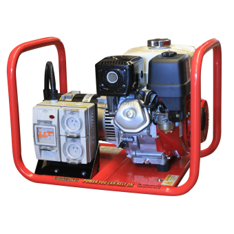 Genelite Honda 4.5kVA Generator Worksite Approved - Worksite Approved Petrol Generators