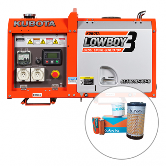 Kubota 6kva Lowboy Diesel Generator  - Auto Start Generators For Off Grid Solar