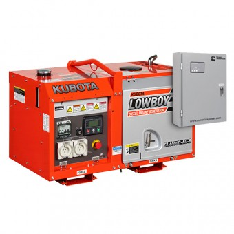 Kubota 6kva Lowboy Diesel Generator + AMF - Auto Start Generators For Mains Failure