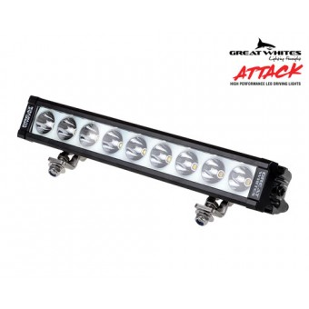 Great Whites 9 LED Attack Driving Light Bar - Root Catalog