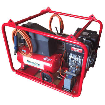 Genelite 6.5kVA 3 in 1 Diesel Welder Generator Workstation, powered by Yanmar - Root Catalog