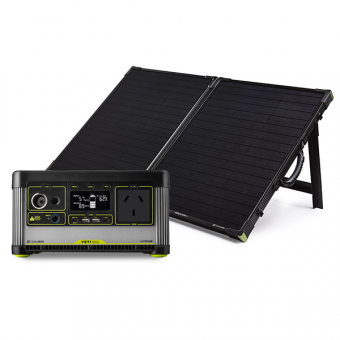 Goal Zero Yeti 500X Lithium Portable Power Station + Boulder 100 Briefcase Pack - Solar Panel Bundles