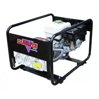 Dunlite Honda 3.3kVA Generator with Worksafe RCD Outlets - Worksite Approved Petrol Generators