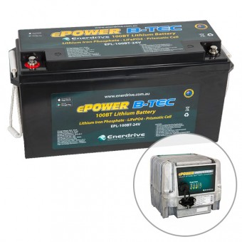 Enerdrive ePOWER B-TEC 24V 100Ah Lithium Battery & 30A Industrial Battery Charger Pack - Root Catalog