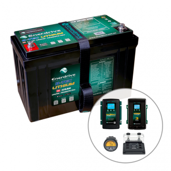 Enerdrive ePOWER B-TEC 125Ah Lithium Battery, 40A DC2DC + 40A AC with ePro+ Monitor Charger Pack - Battery Bundles