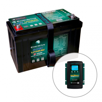 Enerdrive ePOWER B-TEC 125Ah Lithium Battery & 40A DC2DC Charger Pack - Batteries & Power Systems