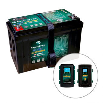 Enerdrive ePOWER B-TEC 125Ah Lithium Battery, 40A DC2DC Charger & 20A AC Charger Pack - Enerdrive Battery and Electrical Promotions