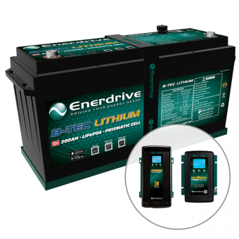 Enerdrive ePOWER B-TEC 200Ah Lithium Battery, 40A DC2DC + 60A AC Charger Pack - Batteries & Power Packs