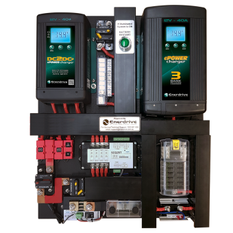 Enerdrive 40A AC and DC DIY Installation Kit, With Simarine Battery Monitor (K-AGM-Board-D) - Power Systems