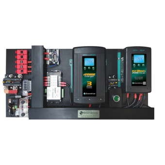Enerdrive 40A AC and DC DIY Installation Kit, With Simarine Battery Monitor (K-AGM-Board-G) - Power Systems