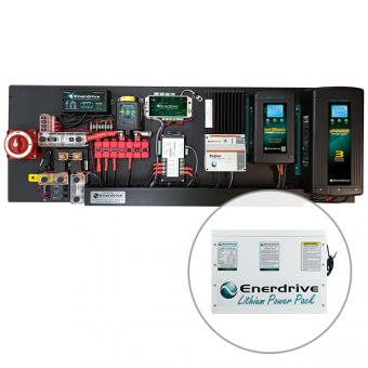 Enerdrive Pro Series 60A Off-Grid 200Ah Lithium Battery Kit - Root Catalog
